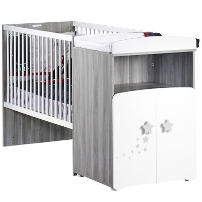 lit bb combin volutif new nao 60 x 120 cm baby price. Black Bedroom Furniture Sets. Home Design Ideas