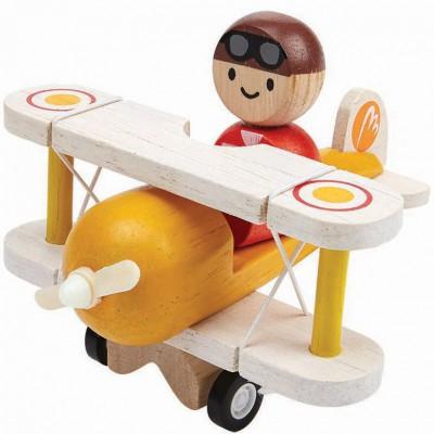 Avion classique avec pilote  par Plan Toys
