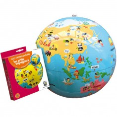 Ballon globe gonflable