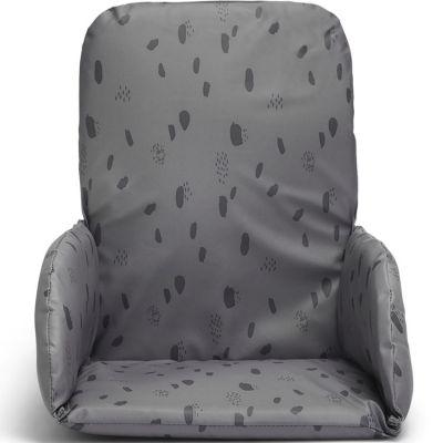 Coussin chaise haute Spot storm grey gris  par Jollein