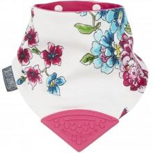 Bavoir bandana à fleurs avec embout de dentition  par Cheeky Chompers