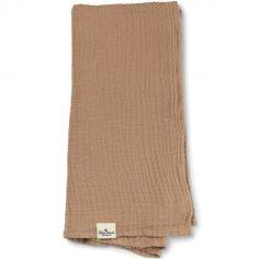 Lange en bambou et coton Faded Rose (80 x 80 cm)
