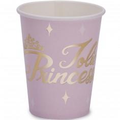 Gobelets en carton Danseuse et princesse (8 pièces)