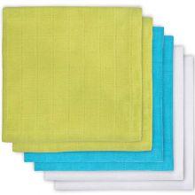 Lot de 6 langes blanc, vert, bleu (70 x 70 cm)  par Jollein