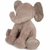 Peluche Ferdinand l'éléphant taupe (90 cm) - Tartine et Chocolat