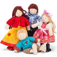 Famille de 4 poupées  (13 cm)