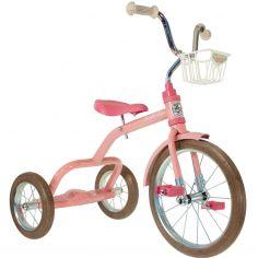 Tricycle Spokes avec panier avant 16'' rose