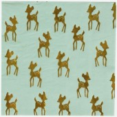 Lot de 16 serviettes en papier faon doré - My Little Day