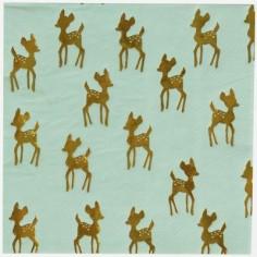 Lot de 16 serviettes en papier faon doré