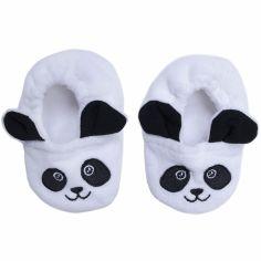 Chaussons en velours Panda (0-6 mois)