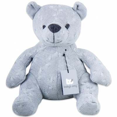 Peluche ourson Cable Uni gris (35 cm) Baby's Only