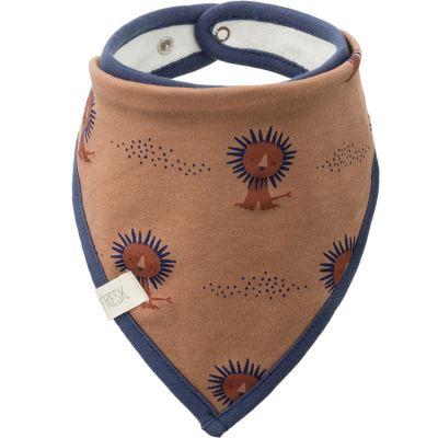 Bavoir bandana en coton bio Lion  par Fresk