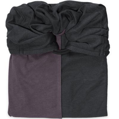 Petite écharpe sans noeud marron glacé et gris anthracite  par Je Porte Mon Bébé / Love Radius