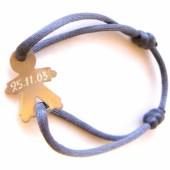 Bracelet cordon papa petit garçon 25 mm (or jaune 750°) - Loupidou