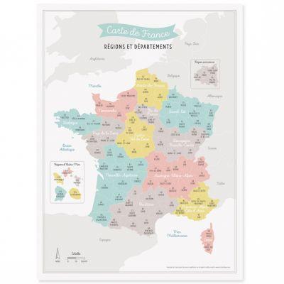 Affiche A3 Carte de France (avec nouveau découpage des régions)  par Zü