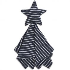 Doudou plat en maille Star lovely navy stripe