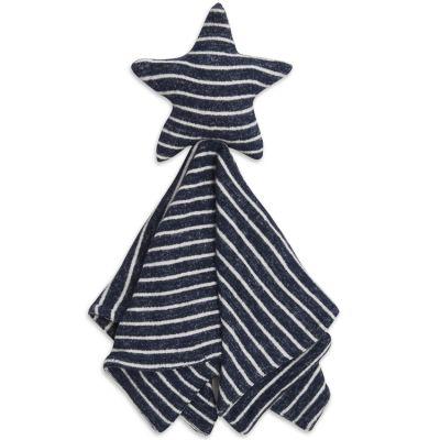 Doudou plat en maille Star lovely navy stripe  par aden + anais