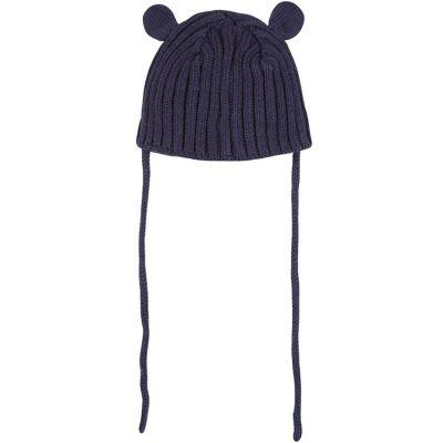 Bonnet en tricot bleu marine (tour de tête : 44 cm)  par Absorba