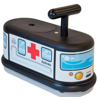 Porteur  La Cosa Ambulance blanc et noir Italtrike