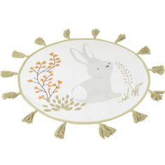 Tapis rond François lapin gris (70 cm)