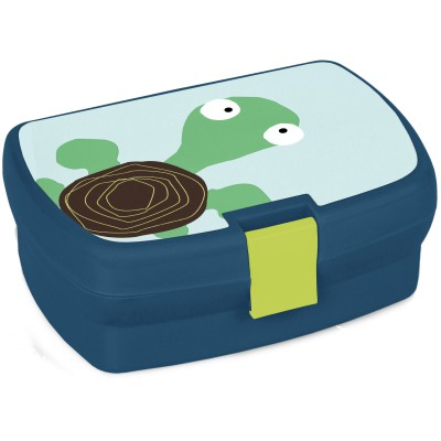 Boîte à goûter Tortue Wildlife bleu  par Lässig