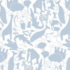 Papier peint intissé Animaux Bleu de Zina Larichi (10 m)