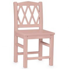 Chaise enfant Harlequin rose
