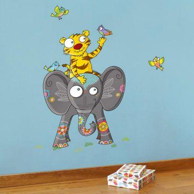 Stickers muraux Amis d'Asie  par Série-Golo