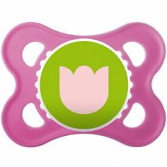 Sucette et attache-sucette en silicone fille coloris aléatoire (0-6 mois)