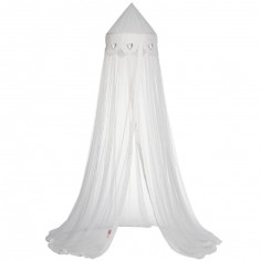 Ciel de lit Coeur blanc