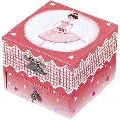 Boîte à bijoux musicale phosphorescente Ballerine rose