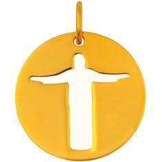 Médaille Christ de Rio (or jaune 18 carats)