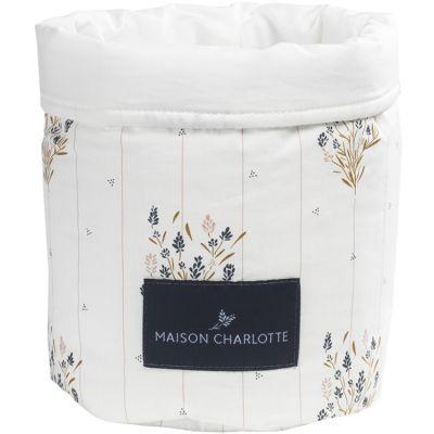 Panier de toilette Madeleine fleurie (19 x 15 cm)  par Maison Charlotte