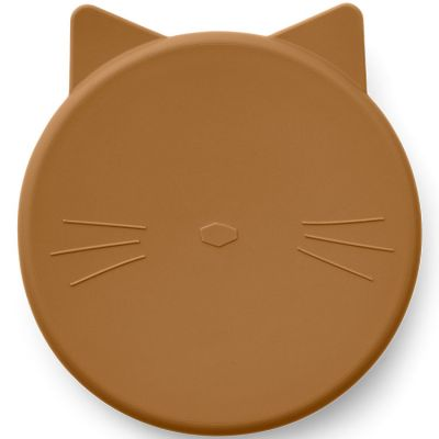 Boîte à goûter Cornelius Cat mustard  par Liewood
