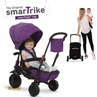 Tricycle évolutif 8 en 1 pliant smarTfold 700 violet  par smarTrike