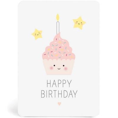 Carte décorative happy birthday anniversaire 105 x 15 cm zü