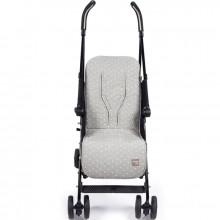 Assise de protection universelle pour poussette Gaby gris clair  par Walking Mum
