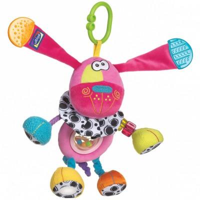 Peluche à suspendre Doofy le chien rose (26 cm) Playgro