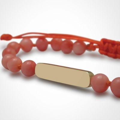 Bracelet Maracas perles (or jaune 750° et corail)  par Mikado