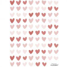 Planche de stickers Petits coeurs (18 x 24 cm)