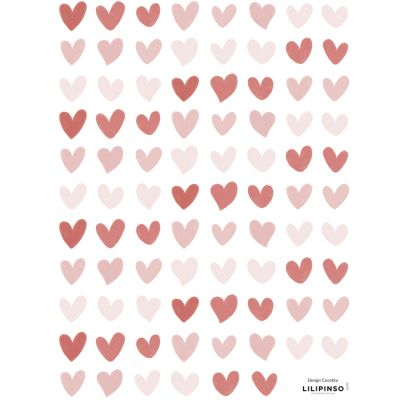 Planche de stickers Petits coeurs (18 x 24 cm) Lilipinso