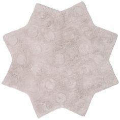 Tapis lavable étoile Little Stella beige rosé (90 cm)