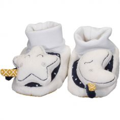 Chaussons peluches Hello (0-6 mois)