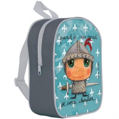 Petit sac à dos avec poches chevalier - Quand je serai grand uq7r2jN