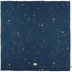 Tapis de parc Colorado coton bio Gold stella Night blue (100 x 100 cm)