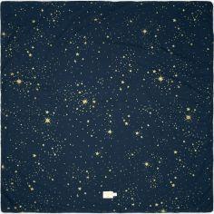 Tapis de parc Colorado coton bio Gold stella Night blue (100 x 100 cm)