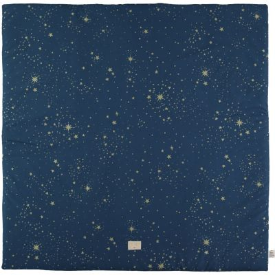 Tapis de parc Colorado coton bio Gold stella Night blue (100 x 100 cm)  par Nobodinoz