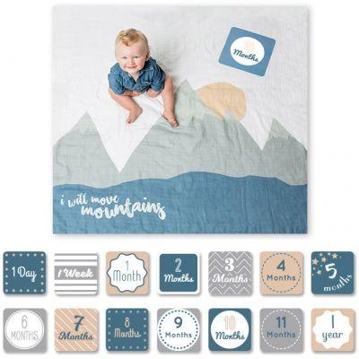 Cartes étapes de bébé et maxi lange I will move mountains (14 cartes)  par Lulujo