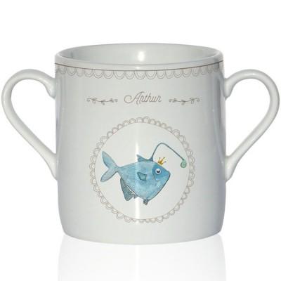 Tasse en porcelaine Poisson lanterne