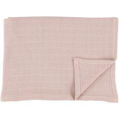 Lot de 2 langes en mousseline de coton Bliss Rose (110 x 110 cm)